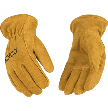 Easy-On Cuff with Elastic Wrist Youth/'s Ages 7-12 Size: Y Kinco 1930-Y-1 Soft /& Durable Ultra Suede Ergonomic Wing Thumb Thermal Fleece Lining